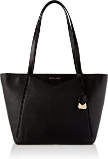 Michael Kors 30S8GN1T3L-001 Whitney Large Leather Tote Bag, Black