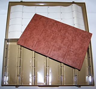 Logan Electric Slide File, Archival Metal Storage Box Holds 750 2x2 Mounted Slides in Movable Dividers.