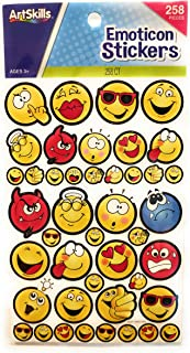 EMOTICON Sticker Faces Kissy Angel Devil Goofy Sad Smiley 258 Pcs