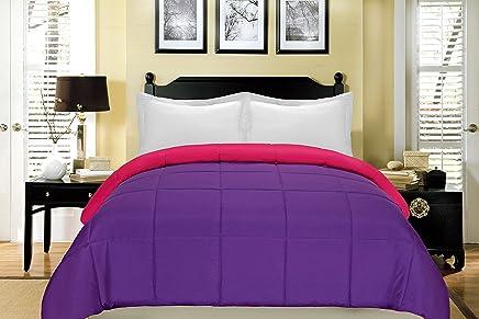 South Bay Reversible Down Alternative Comforter,  King,  Fuchsia/Purple