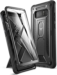 YOUMAKER Kickstand Case for Galaxy Note 8, Full Body with Built-in Screen Protector Heavy Duty Protection Shockproof Rugged Cover for Samsung Galaxy Note 8 (2017) 6.3 Inch - Black
