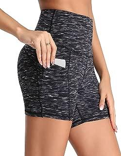 Women's Short Yoga Side Pockets High Waist Workout Running Sports Shorts 4