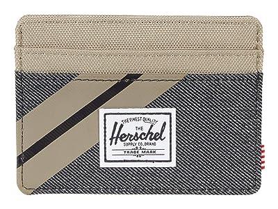 Herschel Supply Co. Charlie RFID (Timberwolf/Black Denim) Wallet Handbags