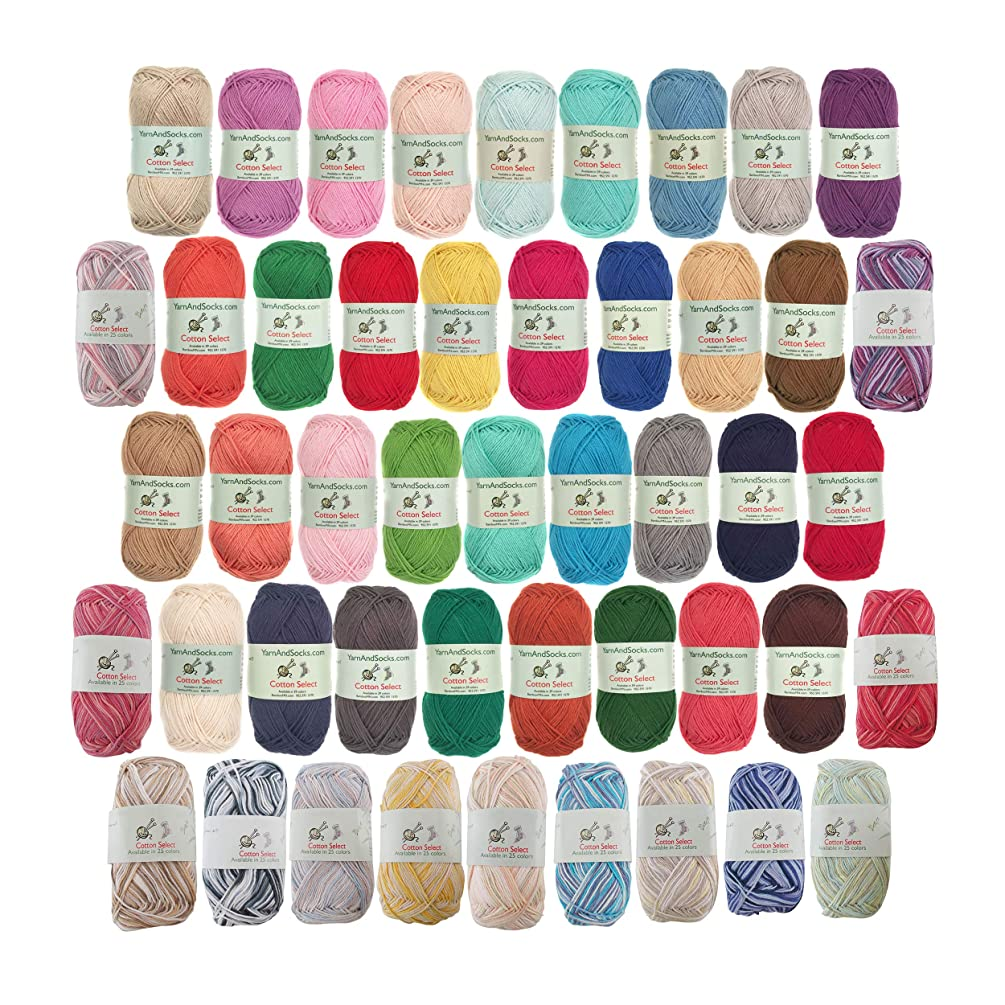 Cotton Select Yarn - 8 Skeins - Assorted Color Surprise Package