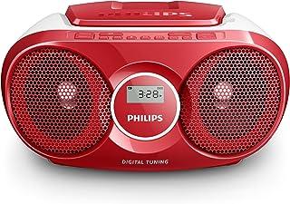 Philips AZ215R Lecteur CD,CD-R,RW Portable, Facile à Utiliser pour Enfants, avec Radio..