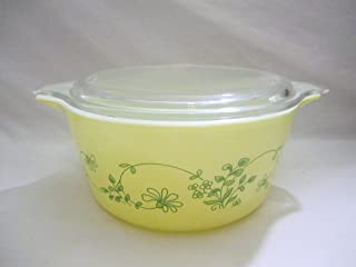 Vintage Pyrex Glass Shenandoah 1.5 Liter Covered Casserole w/ Lid