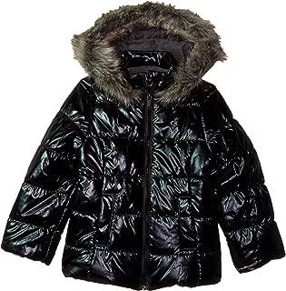 Calvin Klein Girls' Metallic Puffer Jacket