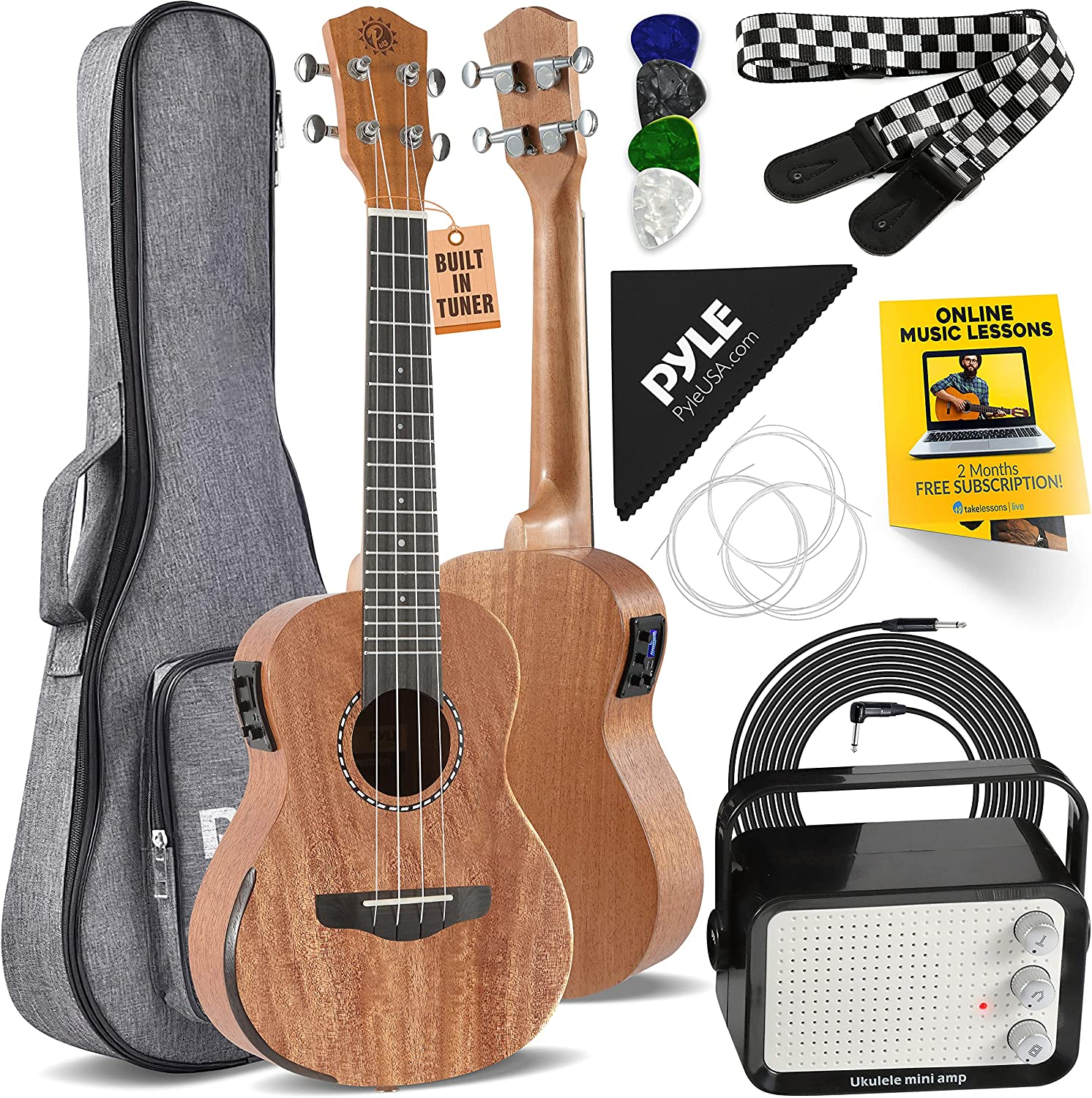 Acoustic Electric Ukulele and Amplifier Kit Los Angeles Mall 23