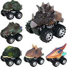 Original Color Dinosaur Cars,6 Pack Pull Back Dinosaur Vehicle Set, Mini Pull Back Animal Car Toy for Toddlers Boys Girls,Animal Vehicles for Kids Party Favors