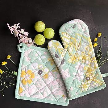 Buy Glus 174 100 Cotton Heat Proof Microwave Sea Green