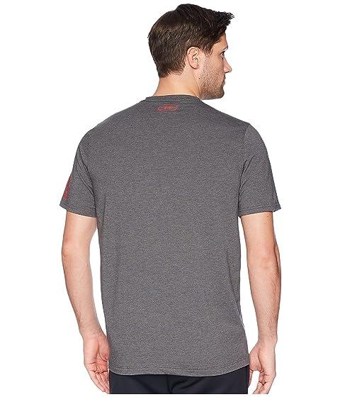 Under Red UA Charcoal Heather Logo Freedom Tee Armour Medium OrgwPOq