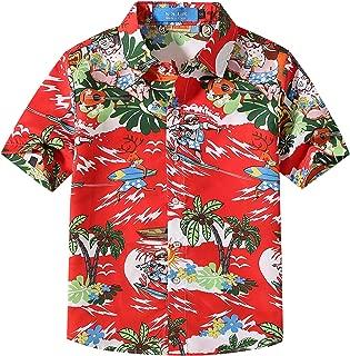 Big Boys' Santa Claus Party Tropical Ugly Hawaiian Christmas Shirts