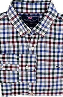 Men's Slim Fit Whale Shirt Button Down Dress Shirt