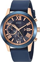 GUESS Men's Stainless Steel Silicone Casual Watch