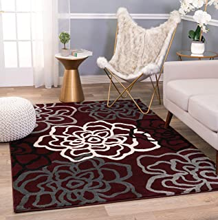 Rugshop Contemporary Modern Floral Flowers Area Rug 5' 3