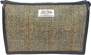 Harris Tweed Light Brown Herringbone Toiletries Wash Bag