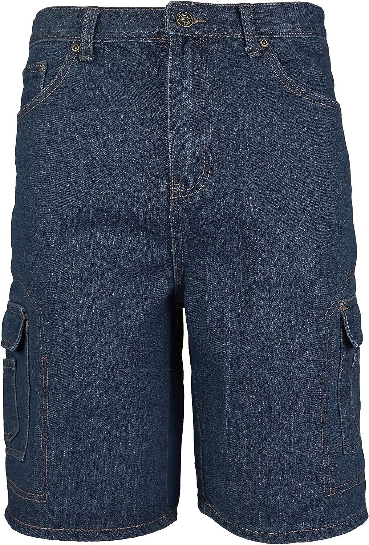 vkwear Men's Cotton Stonewash Cargo Pocket Denim Jean Shorts at Amazon Men's  Clothing store