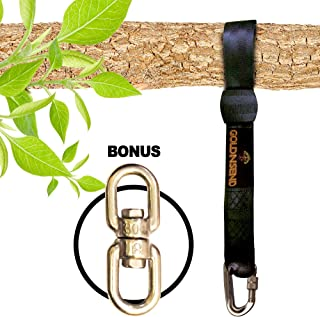 10 Ft Tree Swing Straps Hanging Kit for Outdoor Swing with Free Swivel Hook - New Extra Long10 Ft Strap Holds 2800 Lbs, Fast & Easy Way to Hang Any Swing Set