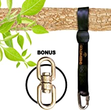 Easy Hang (10FT) Tree Swing Strap - Holds 2800lbs. New Extra LongTree Swing Strap Hanging Kit 10 ft Long for Outdoor Swing with Bonus Spinner Hook - Fast & Easy Way to Hang Any Swing Set