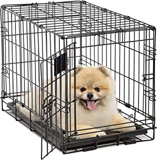 Dog Crate | MidWest Life Stages XS Folding Metal Dog Crate | Divider Panel, Floor Protecting Feet, Leak-Proof Dog Tray | 2...