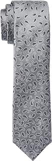 Van Heusen Men's Silk Paisley Tie, Black/Grey