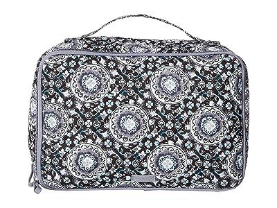 Vera Bradley Iconic Large Blush Brush Case (Charcoal Medallion) Luggage