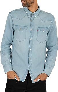 Levi's de los Hombres Camisa Occidental de Barstow, Azul