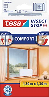 TESA Insect Stop Comfort red anti mosquitos Ventana Blanco - Mosquiteras (1300 x 10 x 1300 mm, 141 g, Blanco, 454 g)