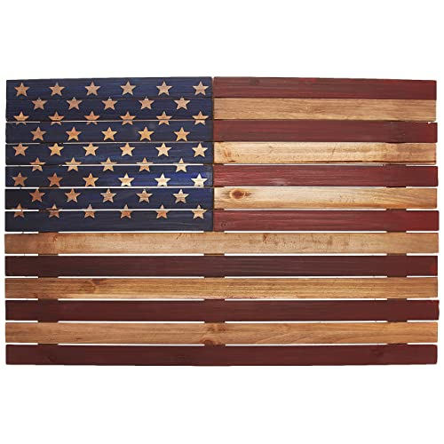 Vintage look Personalized American Flag Family plaque