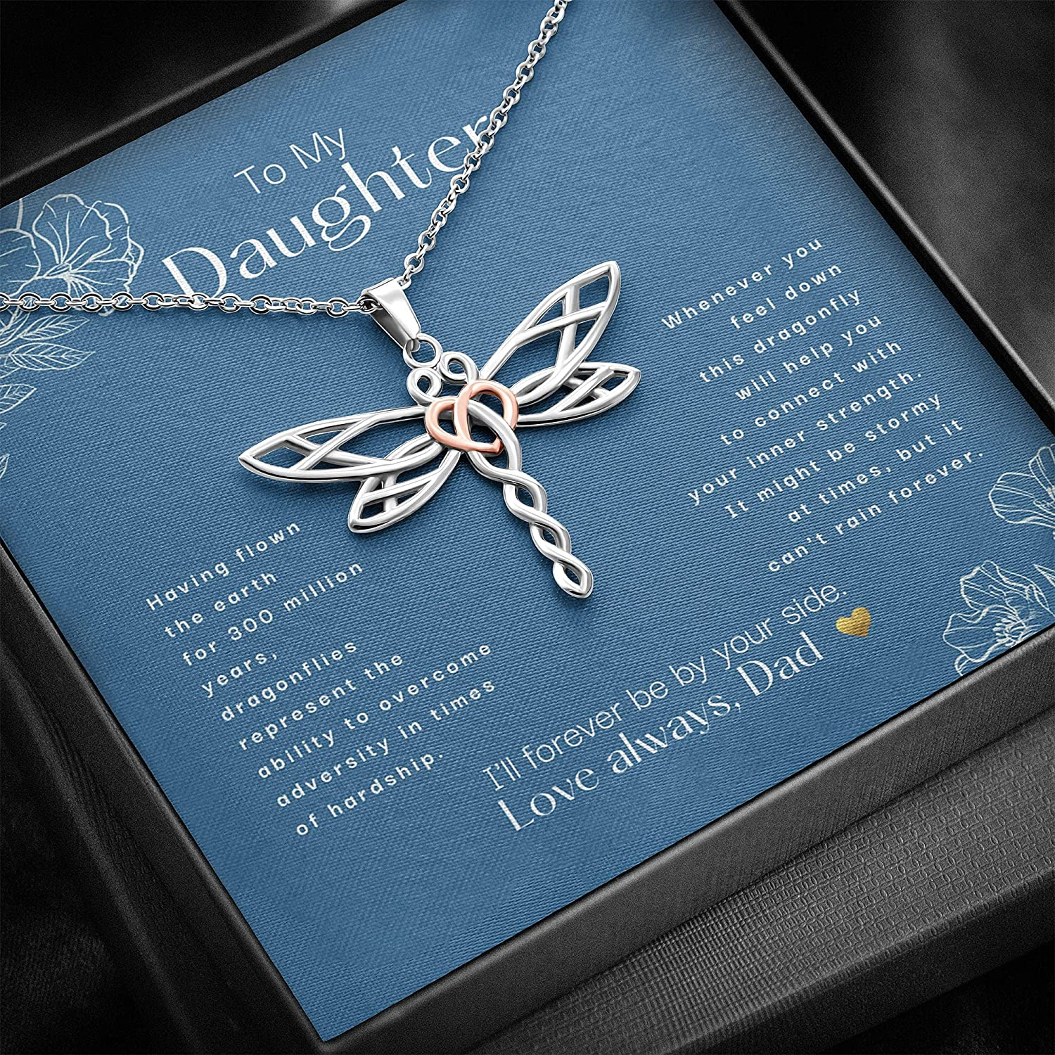 To My Daughter I'll Forever Be Max 40% OFF Your By Dragonfly 70% OFF Outlet Necklace Side