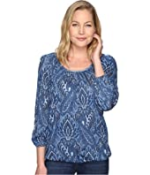 MICHAEL Michael Kors - Textured Devonshire Peasant Top