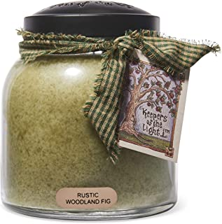 A Cheerful Giver Rustic Woodland Fig Papa Jar Candle, 34-Ounce