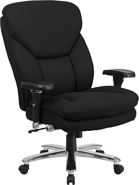 Flash Furniture HERCULES Series 24 7 Intensive Use Big Tall 400 Lb Rated Black Fabric Executive Ergonomic Office Chair With Lumbar Knob