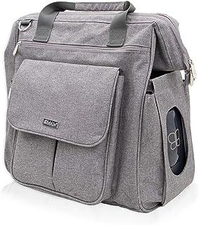bblüv - Metrö - Complete Multi-Function Diaper Backpack, Heather Grey