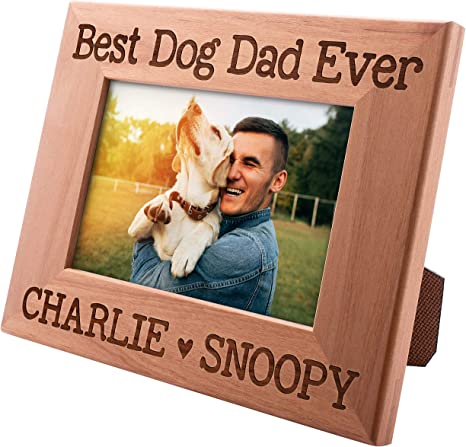 """GIFT FROM THE DOG /""""BEST DOG DAD EVER/"""" PAW PRINT BIRTHDAY CARD FATHERS DAY in bag"""