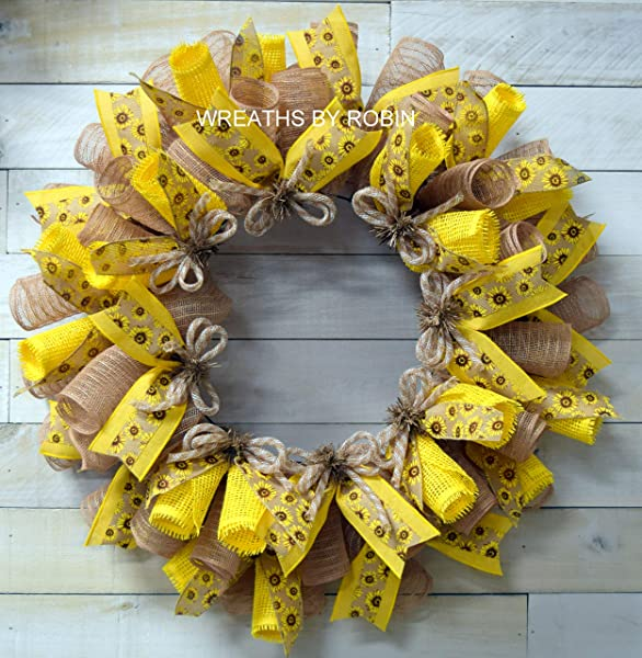 Spring Wreaths Summer Wreaths Sunflower Wreaths Item 2621