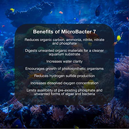 MicroBacter7 - Bacteria & Water Conditioner for Fish Tank or Aquarium, Populates Biological Filter Media for Saltwater and Freshwater Fish