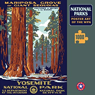 Yosemite National Park Poster Art of The WPA 1000 Jigzaw Puzzle Games for Kids Adults Collector Item (Printed in USA)