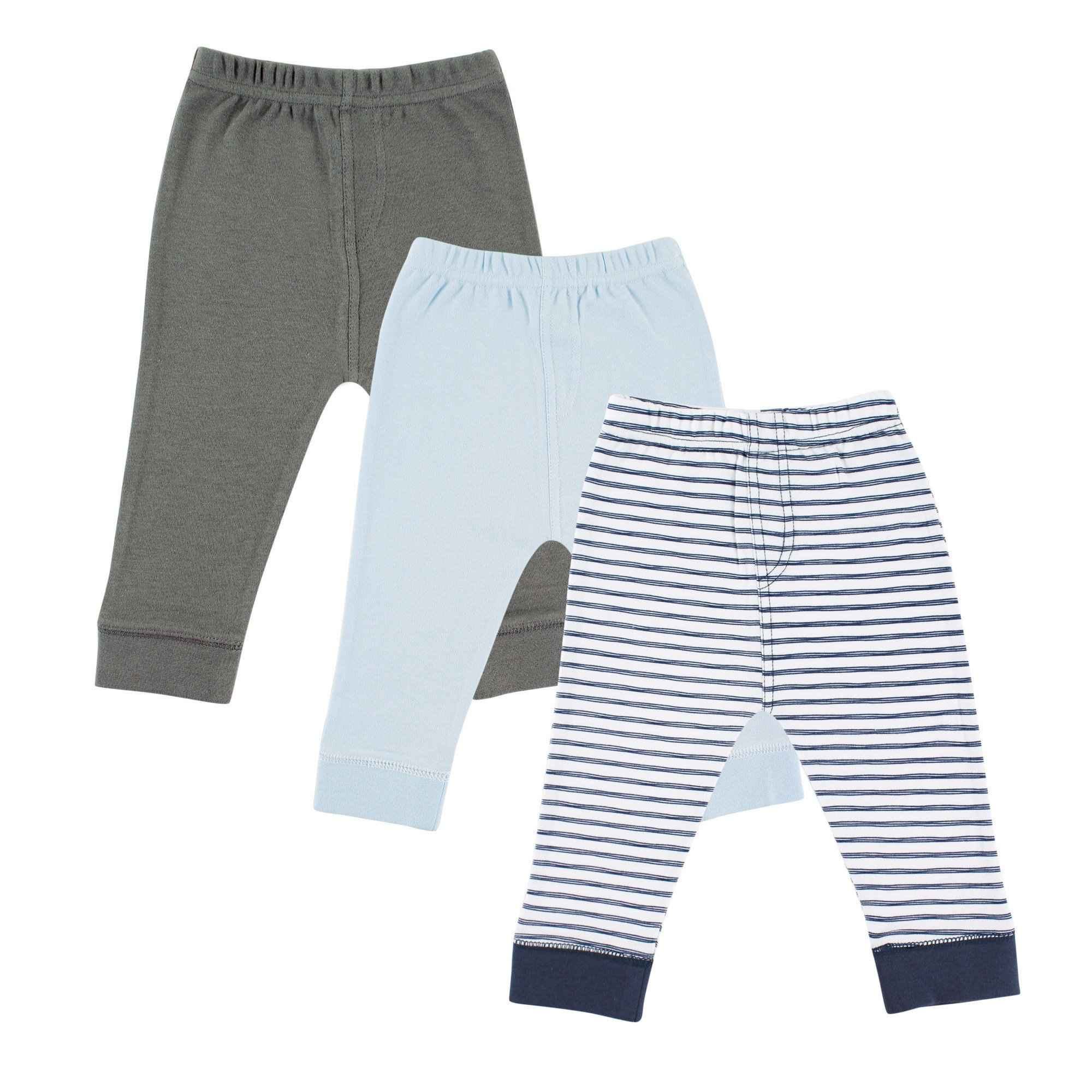 Luvable Friends Unisex-Baby Baby Cotton Pants 4 Pack