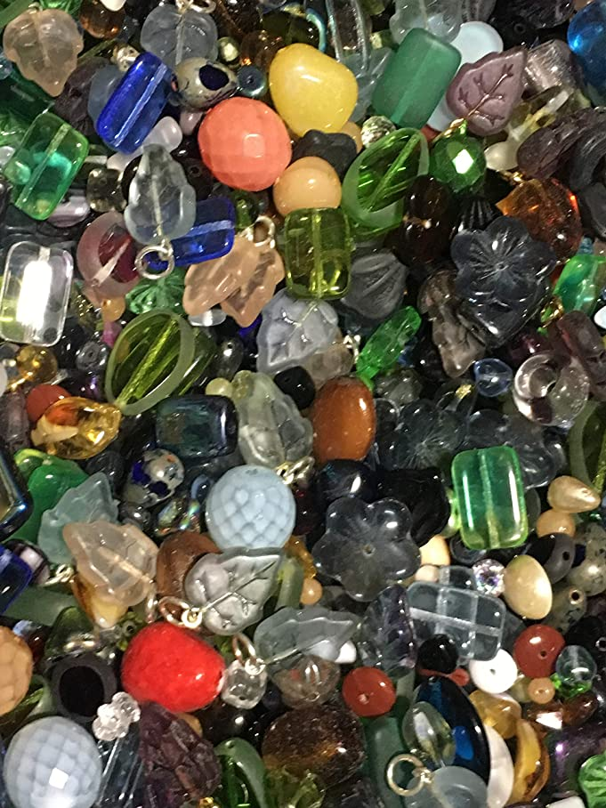 5 Pounds of Mix Preciosa, Druk, Glass, Leaves Crystal, Aluminum, Mix Beads, Czech Pressed,, Crystal, Assorted, Variety Mix Size 6mm-24MM, Variety of Colors z474981302