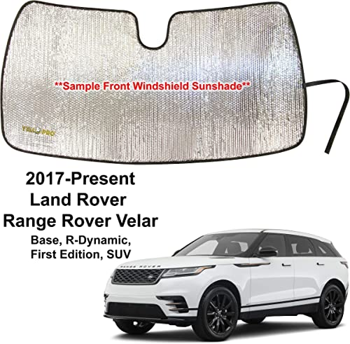 YelloPro Custom Fit Automotive Reflective Front Windshield Sunshade Accessories UV Sun Protection for 2017 2018 2019 2020 2021 Land Rover Range Rover Velar, Base, R-Dynamic, First Edition, SUV