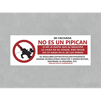 Se/ñaletica en Material PVC Resistente Oedim Se/ñaletica PVC Prohibido Dejar Excrementos de Perro Tama/ño A4 29,7x21cm