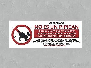 Oedim Señal en Vinilo Prohibido orinar Perros | Mi Fachada no es un pipican | 80 x 30 cm | Señaletica Adhesiva Duradera y Económica