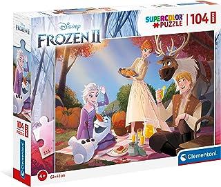 Clementoni 23757, Frozen 2 Supercolor Maxi Puzzle for Children - 104 Pieces, Ages 4 years Plus