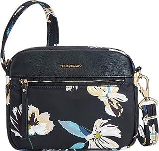 حقيبة السفر اديسون صغيرة كروس كروس من Travelon باللون الأزرق الداكن، مقاس واحد
