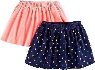 Patinetes de punto para niñas pequeñas (paquete de 2 (falda con pantalones cortos integrados)