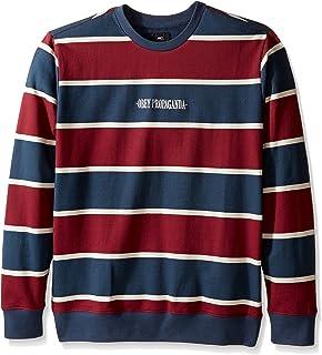 Obey Men's Wilton Stripe Crew Sweatshirt