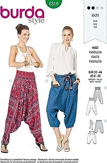 Burda Style Sewing Pattern 6316 - Misses' Harem Pant, A(6-8-10-12-14-16-18-20)