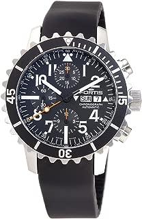 Fortis Men's 671.10.41K B-42 Marinemaster Automatic Chronograph Black Dial Watch