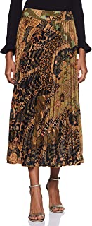 Label RITU KUMAR Gold Flared Printed Skirt